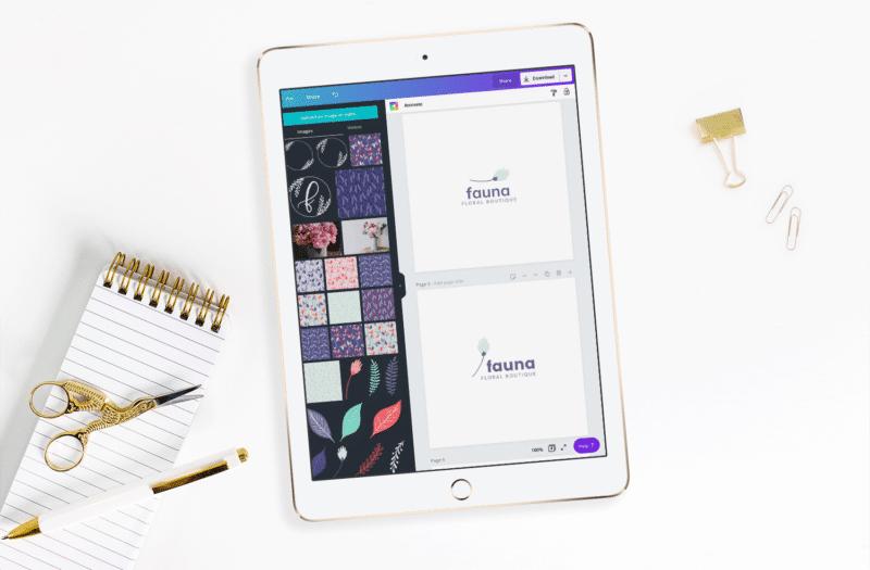 Fauna Design Working on Logo Designs in Canva