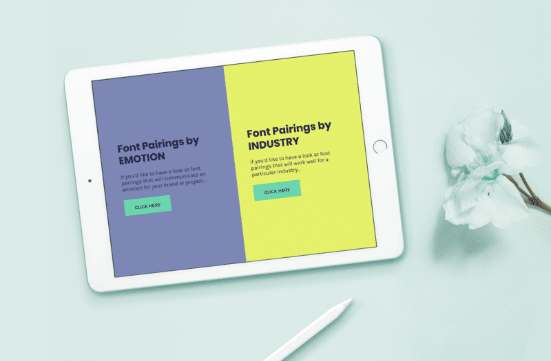 The Font Pairing Guide Sample Page