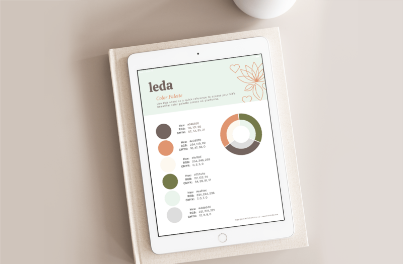 Leda Design Color Palette